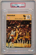 1977 Sportscaster 7802 Magic Johnson RC PSA 8