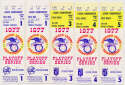1977 Ticket  ALCS Tickets (5 from Games 1-5) Ex-Mt/NM