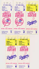 1977 Ticket  World Series Game 1-5 Run Ex-Mt