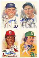 1980 Perez Steele  50 different signed postcards 9.5