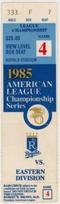 1985 Ticket  ALCS Game 4 Ex