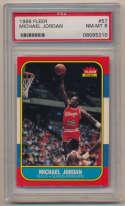1986 Fleer 57 Michael Jordan RC PSA 8