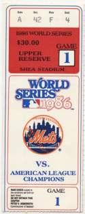 1986 Ticket  World Series Game 1 VG-Ex