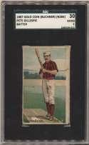 1887 N284 62 Pete Gillespie (batter) SGC 2