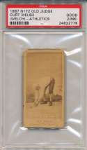 1887 N172 Old Judge  Welch, Curt (Athletics) PSA 2 mk