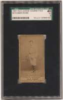 1887 N172 Old Judge 3952 Amos Rusie Pitch, R/hand thigh high, 2477  SGC 3