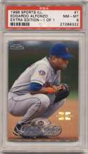 1998 Fleer Sports Illustrated 1/1 1 Edgardo Alfonzo PSA 8