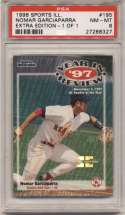 1998 Fleer Sports Illustrated 1/1 195 Nomar Garciaparra PSA 8