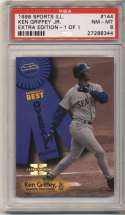 1998 Fleer Sports Illustrated 1/1 144 Ken Griffey Jr PSA 8