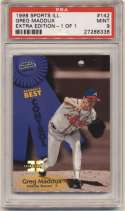 1998 Fleer Sports Illustrated 1/1 142 Greg Maddux PSA 9