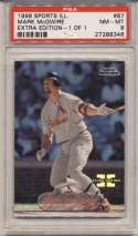 1998 Fleer Sports Illustrated 1/1 87 Mark McGwire PSA 8