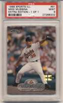 1998 Fleer Sports Illustrated 1/1 91 Mike Mussina PSA 9