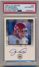 1999 Upper Deck UD Encore -2 Joe Montana Signed Insert Card 9.5