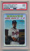 2020 Topps Heritage Chrome Refractor 464 Ronald Acuna 122/571 PSA 9