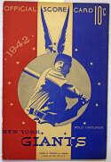Program  1942 All Star Game Signed Program (6 sigs) w/Mel Ott