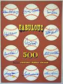 Large Print  Fun 500 Home Run Club Signed Display 9