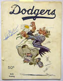 Program  1951 Brooklyn Dodgers Signed Yearbook (28 sigs) w/Jackie & Campy 9