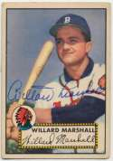 1952 Topps 96 Willard Marshall 9.5