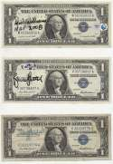 Collection of 9 different HOFers Signed Currency 9