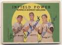 1959 Topps 519 Infield Power (signed all 3!) 9