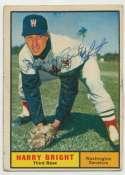 1961 Topps 447 Harry Bright 8.5