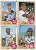 1968 Topps  Collection of 36 different Red Sox signed cards w/3 Yazs, Elston Howard & Joe Foy 9