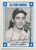 1980 TCMA All Time Dodgers  Sandy Koufax 9.5 JSA LOA
