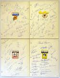 Team Sheet  1982 Team Sheets (6 different) 9