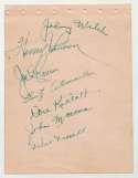 Album Page  Welch, Johnny Signed Page w/Cronin 9.5 JSA LOA