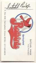 Album Page  Paige, Satchel (business card) 9.5