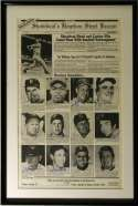 Large Print  1989 Show Broadside w/9 HOFers including Ted Williams 9