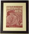 Photo  Gehrig, Lou Signed Sheet Music  9.5 JSA LOA (FULL)