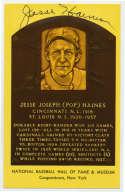 Yellow HOF Plaque 63 Jesse Haines 9.5