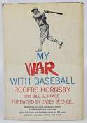 Book  Hornsby, Rogers Signed My War With Baseball (scarce) 9
