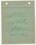 Album Page  Hutchinson, Fred Signed Page 9 JSA LOA