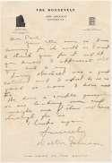 Letter  Johnson, Walter 9