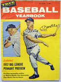 Program  Mantle, Mickey Signed 1957 True Baseball Yearbook 9 JSA LOA (FULL)