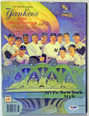 Program  Mantle, Mickey Signed 1986 Yankees Yearbook 8 PSA DNA (FULL)