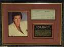 Check  Nelson, Ricky Signed/Framed Check Display 9.5