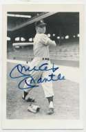 Postcard  Mantle (likely Rookie image) 9.5