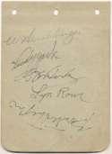 Album Page  Hershberger, Willard Signed Page 8