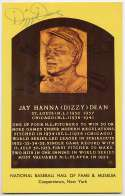 Yellow HOF Plaque 38 Dizzy Dean 8.5 JSA LOA
