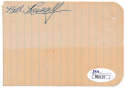 Cut  Russell, Bill (signed in 1956) 9.5