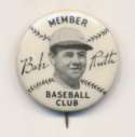1934 Quaker Oats  Babe Ruth Pin NM