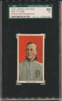 1909 T206 95 Cobb (portrait, red bckgrnd) SGC 5