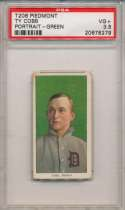 1909 T206 94 Cobb (portrait, green bckgrnd) PSA 3.5