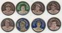 1909 Domino Discs PX7  Collection of 57 Different w/9 HOFers Ex