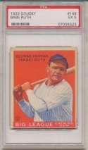 1933 Goudey 149 Babe Ruth SGC 5