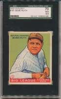 1933 Goudey 181 Babe Ruth SGC 5.5
