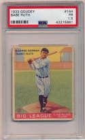 1933 Goudey 144 Babe Ruth PSA 1.5